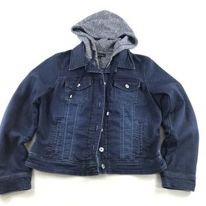 INC International Concepts Hooded Jean Jacket